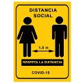 cartel distancia de seguridad class=